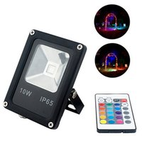 Wholesale Outdoor Rgb Controller - LED Floodlights RGB Remote 24key Controller 10W 20W 30W 50W 85~265V Projecteur Foco Led Floodlight Refletor Spotlight Outdoor Exterieur