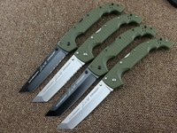 Wholesale knife size - 10 Types Newest Cold Steel Knives XL SIZE VOYAGER Series Big Folding Knife Utility Survival Knifes Hunting Tactical Outdoor Camping Tool