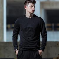 Wholesale Hot Press Shirts - Fashion Hot Pressing Men T-shirt 2017 Autumn Long Sleeve Slim Mens Tee Tops New Arrival O-neck Men's T-shirts Brand Tees MT026