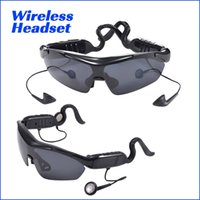 Wholesale Remote Control Productions - Smart Sunglasses Smart glasses Bluetooth stereo headset Touch Polarized Noise reduction USB rechargeable new production high quality
