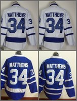 Wholesale Leafs Toronto - Top Quality ! 2016 New Men Toronto Maple Leafs Ice Hockey Jerseys Cheap #34 Auston Matthews blue white Jersey Authentic Stitched Jerseys