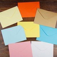 Wholesale Colored Invitation Envelopes - Wholesale- 50pcs 13.5x10cm Colored Blank Paper Envelopes Wedding Party Invitation Envelope Greeting Cards Gift Envelope