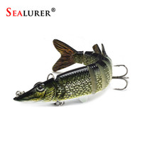 Wholesale Soft Lure Pike - 12.5cm 20g 9-segement Isca Artificial Pike Lure Muskie Fishing Lures Swimbait Crankbait Hard Bait Fishing Accessory