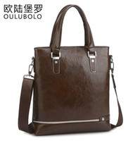 Wholesale Classic Fashion Handbags - Factory direct bag fashion brand handbag classic business man PU waterproof retro youpi high-grade leisure satchel vertical business package