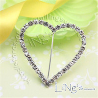 Wholesale 10pcs A Grade Rhinestone Buckle Diamante Heart Shape Buckle Size mm DIY Supply