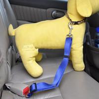 Wholesale Chain Restraints - Lefdy 8 Colour Strong pet Dog Car Travel Seat Belt Clip Lead Restraint Harness Auto traction leads L035