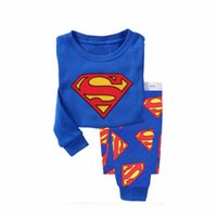 Wholesale Pijama Baby Boy - PJ3 2-7Y Superman Pajamas Cartoon Pyjama Baby Casual Pijama Marvel Pijamas Pyjamas Boys Long Johns Underwear Clothes Kids Super
