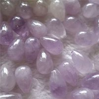 lágrima cuentas de piedras preciosas al por mayor-Whosale piedras preciosas perlas sueltas 10 * 16 mm perlas de amatista lágrima