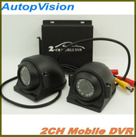 Wholesale Mobile Dvr Systems - Mini Security CCTV 2CH DVR Realtime SD 128GB Card Recording Mobile Bus Vehicle Truck Car DVR Recorder System 2ch Audio with Lock