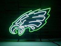 "Wholesale neon sign eagles - NEW Sport Teams PE Eagle REAL GLASS NEON LIGHT BAR PUB SIGN 19""X15"""