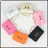 Wholesale Messenger Product - Hot Fashion PU leather Kids Messenger Bag Girl's Mini Designer Bags Girls Stylish Shoulder Bag Children Purses Baby Products 6 Candy Color