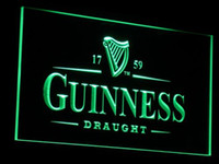 Wholesale guinness bar signs - a002 Guinness Vintage Logo Beer OPEN Bar Pub Club Neon Light Signs Wholesale Dropshipping Free Ship