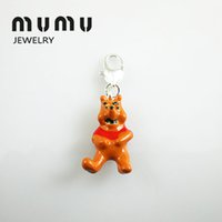 Wholesale Fashion Diy Jewelry Findings Components Teddy Bear Pendant Silver Shark Thomas Charms For European Pendant Chains