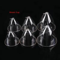 copos de aumento de mama venda por atacado-1 par de mama de ventosa para a máquina de terapia a vácuo acessórios da máquina de sucção de mama, mamário equipamentos de sucção copos