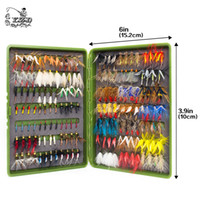 Wholesale Trout Flies Wholesale - 168Pcs wet dry fly fishing set nymph streamer poper emerger flies tying kit material lures fishing box tackle for carp trout