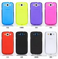 Wholesale Sumsung Galaxy S3 Covers - Free Shipping by DHL Wholesale New For Galaxy SIII S3 S Case Cover, PU, PC, Plastic Hard Case for Sumsung Galaxy S3 i9300 RJ1169 0416dd