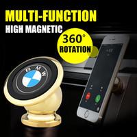 Wholesale Frames Universal - Mobile phone holder Magnet bracket 360 degrees magnetic phone holder Car phone holder Car navigation frame