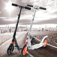 scooters de aluminio al por mayor-Vespa plegable adulta al por mayor-profesional 2 ruedas Absorción no eléctrica 100KG que lleva la aleta de aluminio Hoverboard venta CALIENTE