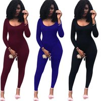 Wholesale Geometric Jumpsuits For Women - K8338 New African Tribal Nairobi Afrique Print Long Sleeve Stretch Leotard Skinny Jumpsuits for Women Sexy Club Wear Bodysuit Overalls