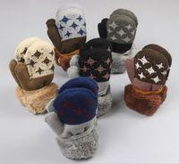 Wholesale Baby Girl Winter Mittens - 5 pairs lot 2017 Kids Star Pattern winter Mittens Baby Knitting Warm Soft Gloves Kids Boys&Girls Mittens Unisex Children full finger Mittens