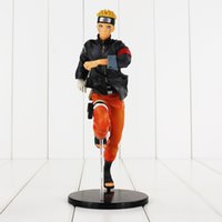 Wholesale Naruto Kid - 23cm Japanese Anime NARUTO Uzumaki Naruto PVC Action Figure Collectable Model Toy for kids gift free shipping