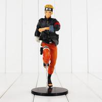 Wholesale Japanese Naruto Toys - 23cm Japanese Anime NARUTO Uzumaki Naruto PVC Action Figure Collectable Model Toy for kids gift free shipping