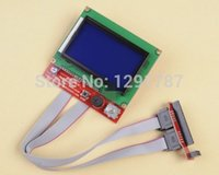 Wholesale Display 12864 - Wholesale-Reprap RAMPS1.4 12864 LCD display controlle with adapter Mendel,Prusa 3D Printer
