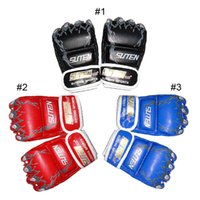 Wholesale Mma Wholesale Fight Gear - SUTEN Tiger Paw Gloves Upscale Sandbags Half Finger Gloves MMA Boxing Punching SUTENG Fighting Glove 2501025