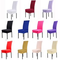 covered dining room chairs NZ - Dining Chair Covers Spandex Strech Dining Room cadeira Protector Slipcover Decor housse de chaise for sillas bone silla gorras