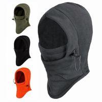 tela para sombrero al por mayor-6 en 1 Velvet Fabric Winter Wind Stopper Sombreros para la cara Sombrero de moda de otoño e invierno Máscaras de esquí al aire libre Gorros Cyling Cycling.