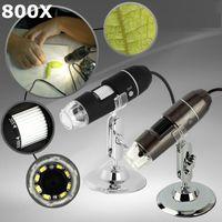 usb mini mikroskop toptan satış-800x Taşınabilir USB 2MP 2 M El Dijital Mikroskop Büyütme 8-LED Mini Mikroskop Kamera Büyüteç Standı Ücretsiz Kargo Dropship