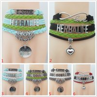 Infinity Love Herbalife Bracelet- Silver Plated Heart Charm Cosméticos Leather Strap Friendship Gifts