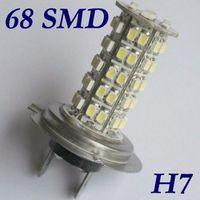 Wholesale H7 68 Smd Led - 2X H7 68 SMD LED White Led Car Auto Headlight Bulb Fog Lights Parking Lamp DC12V