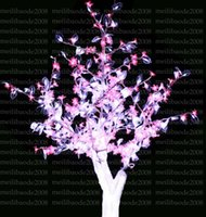 Wholesale Cherry Bulb Ships - 2017 NEW LED Cherry Blossom Tree Light 480LED Bulbs 1.5m Height 110 220VAC Seven Colors for Option Rainproof Outdoor Usage Drop Shipping MYY