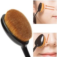 Wholesale Christmas Toothbrush - Professional 1 Pcs Makeup Brush Beauty Oval Make Up Brushes Cream Puff Cosmetic Toothbrush-shaped Foundation Brush Blend Tools