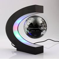 Wholesale Magnetic Globe Inch - C Shape Magnetic Levitation Floating 3 Inches World Map Globe with LED Light for Learning Education Teaching Desk Decoration Night Light