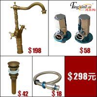 Brass Brass Deck Mounted Wholesale Bamboo Antique Copper Faucet, Bathroom  Sink, Faucet, Deck