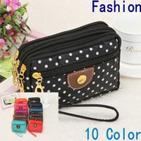 Wholesale Large Coin Purse Bag - New Fashion Girl Women's Wallet Credit Card Key Phone Holder Zipper Purse Extra Large Canvas Mobile Phone Bags Clutch Wallet