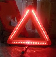 Wholesale Emergency Warning Triangle - High Quality Car Emergency Reflective Triangles Car Warning Triangels Led Light Sign emergency stop Road Parking Warring Sign
