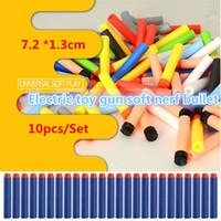 Wholesale wholesale dart guns - New 800pcs Outdoor Play toys bullet Series Refill Clip Darts electric toy gun soft toys bullet 10color 4141-1