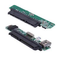 masaüstü için sabit disk toptan satış-Freeshipping 3 adet 2.5 inç SATA 7 + 15 Pin Için USB 2.0 Sabit Disk Adaptörü Dönüştürücü 2.5