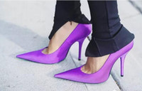 Wholesale Nude Color Wedding Shoes - New Fashion Pump Women Pointed Toe party shoes Fashion wedding Shoes sling back dress shoes thin heels sandals nude color pump