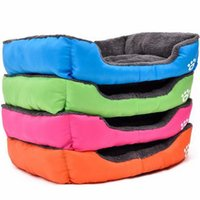 Wholesale Small Dog Beds For Sale - Multicolor Warm Pet Rectangle Bed Soft Cotton Warm Waterproof Dog Cat House Winter Warming Cat Puppy Beds Mat Multi-size for Sale