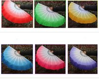 Wholesale Chinese Dancing Costumes - New Chinese dance silk fan High-grade ladies' hand fan Dance costume accessory 6 colors available Drop shipping Hot sale