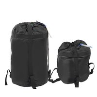 Wholesale Compression Bag Camping - Free shipping Portable Lightweight Compression Stuff Sack Bag Outdoor Camping Sleeping L Size Camping Equipment
