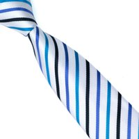 Wholesale Skinny Mixed Tie - Mens Skinny Ties New Brand Men Fashion Floral Striped Neckties Classic Business Casual Mix Stripes Tie For Men E-047