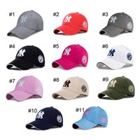 Wholesale New Mlb Hats - Yankees Hip Hop MLB Snapback Baseball Caps NY Hats MLB Unisex Sports New York Adjustable Women Casquette Men Casual Headware 11 Color