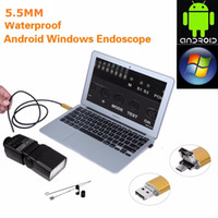 1M 2M 3.5M 5m Endoscope Borescope USB Caméra d'inspection Android HD 6 LED 7mm Objectif 720P Waterproof Car Endoscopio Tube mini caméra 2 IN 1