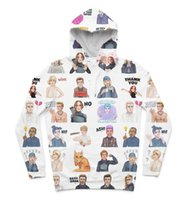 Wholesale Hunger Games Prints - 2 Styles Real USA Size Hunger Games Emojis 3D Sublimation print fleece custom made Hoody   Hoodie Plus Size