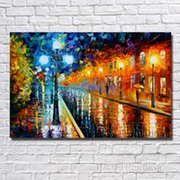 Wholesale Paris Art Canvas - Wall Decor Paris Street Painting Hand painted Decoration Oil Painting Large Modern Canvas Art No Framed